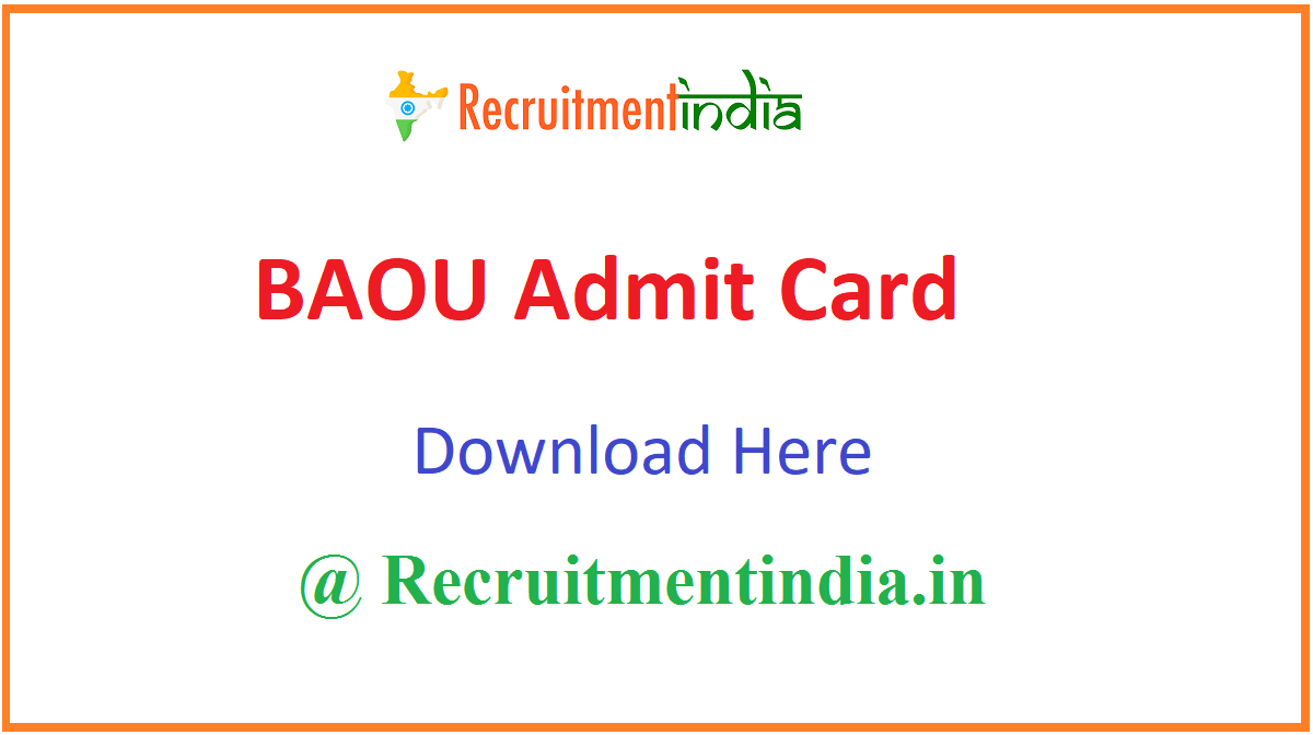 BAOU Admit Card