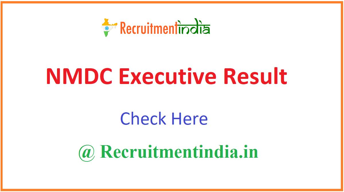 NMDC Executive Result