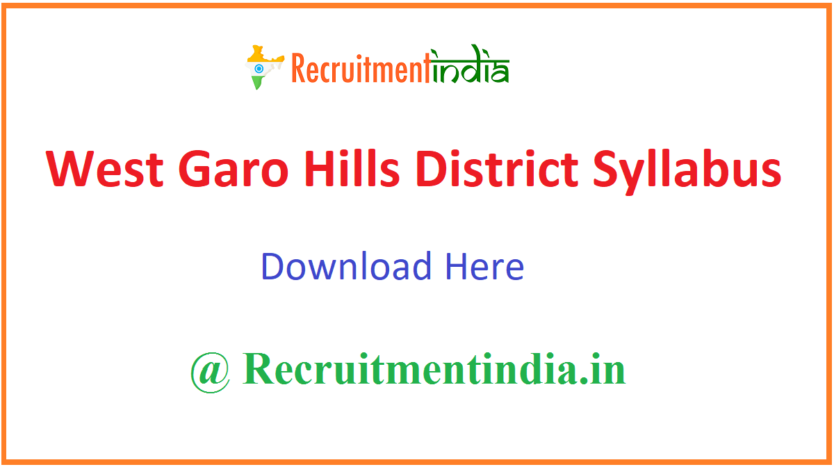 West Garo Hills District Syllabus