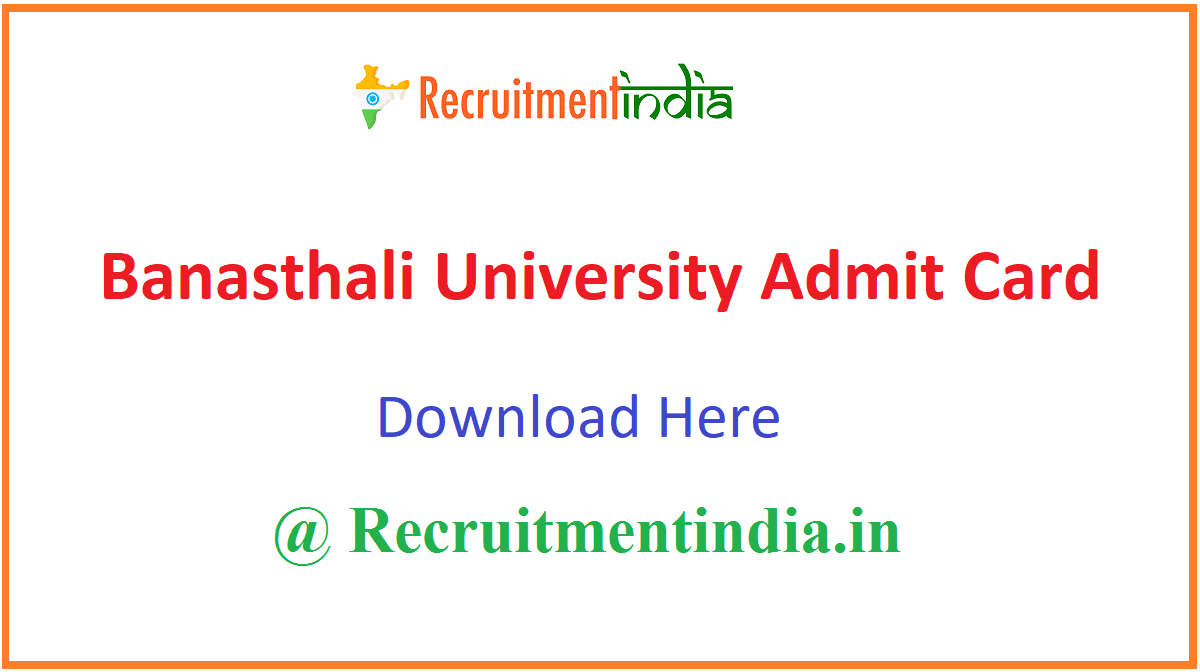 Banasthali University Admit Card