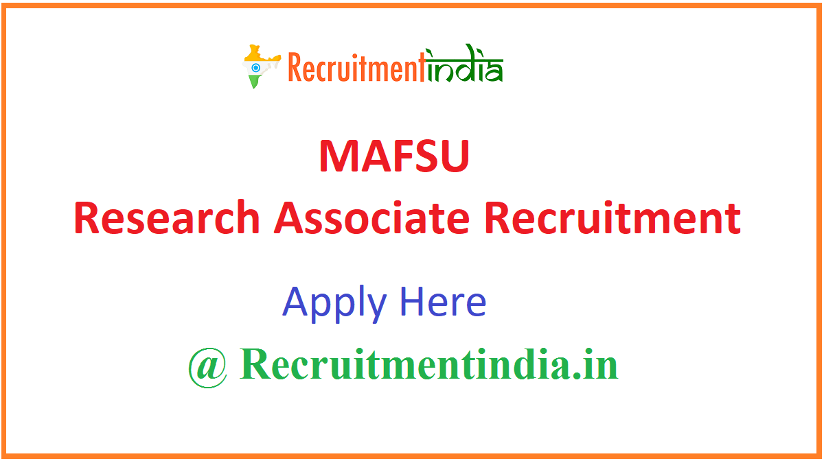 MAFSU Research Associate Recruitment
