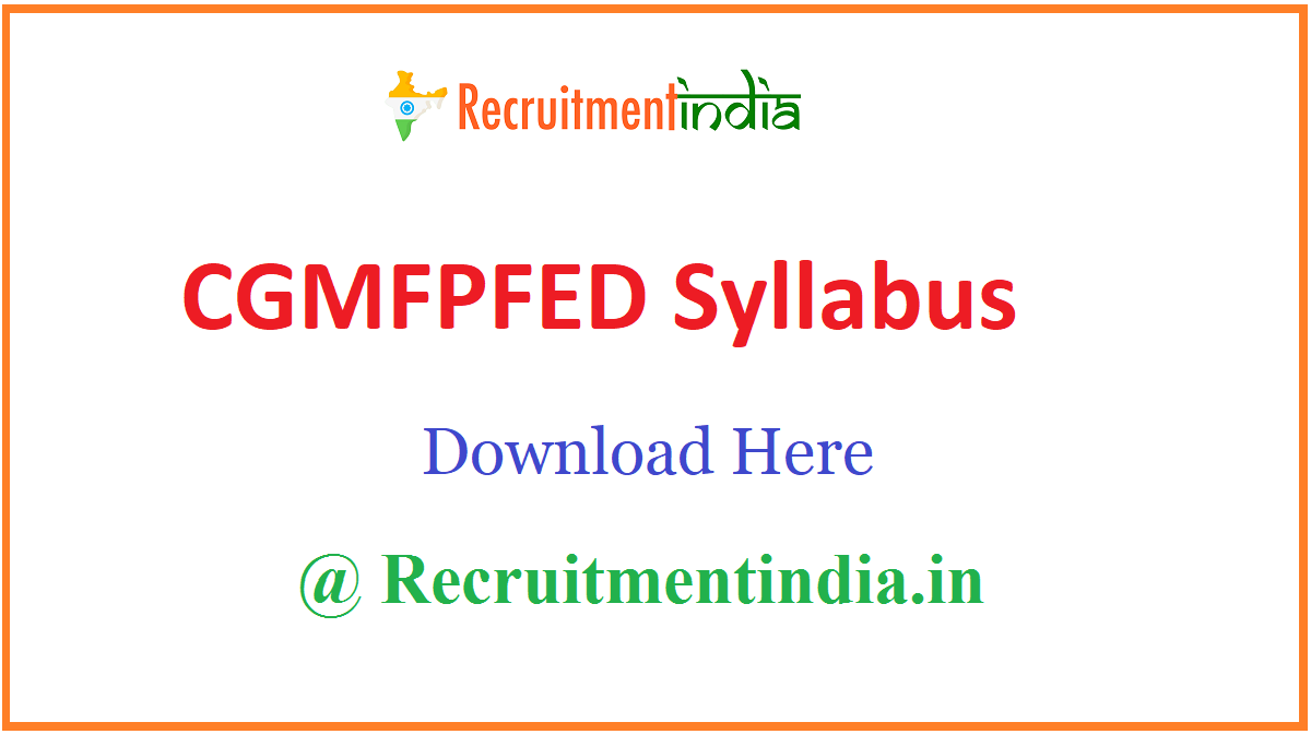 CGMFPFED Syllabus