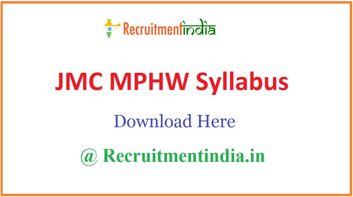 Jamnagar JMC Syllabus
