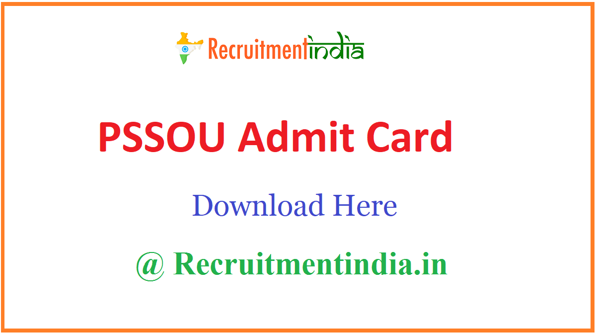 PSSOU Admit Card