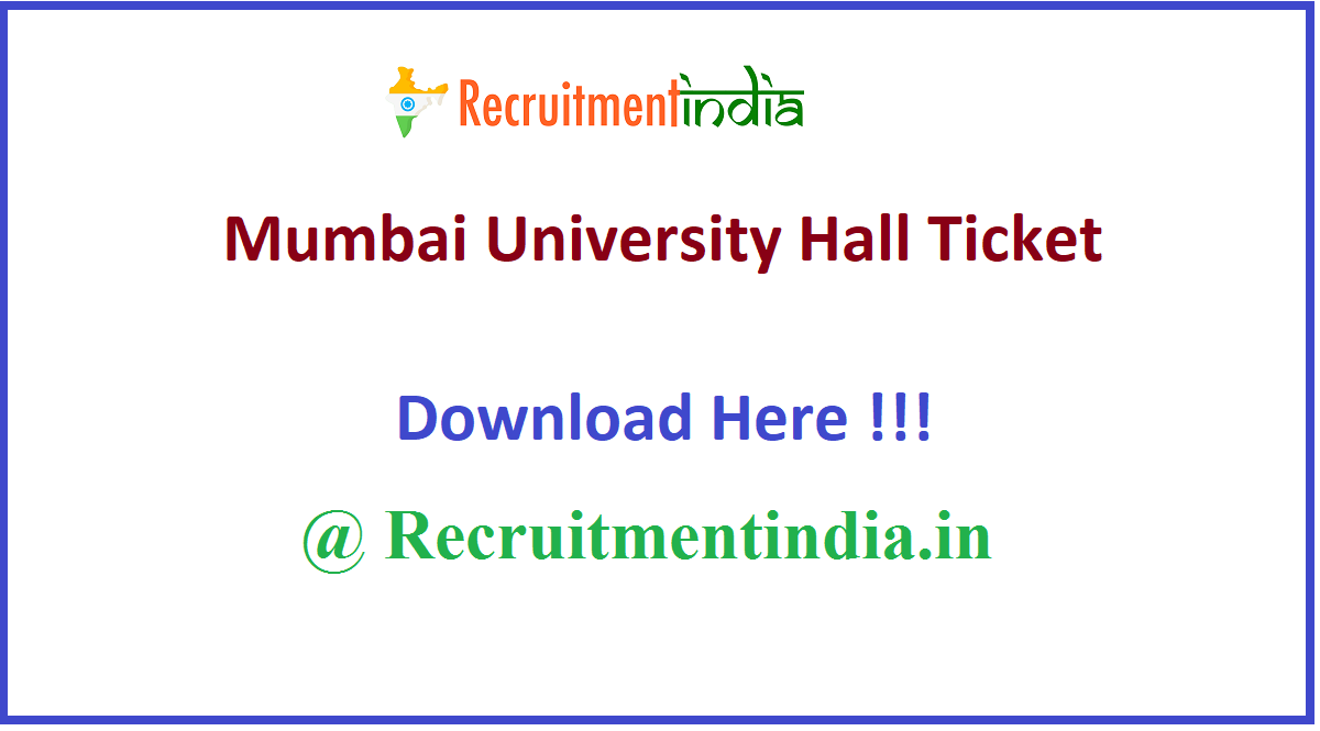 Mumbai University Hall Ticket