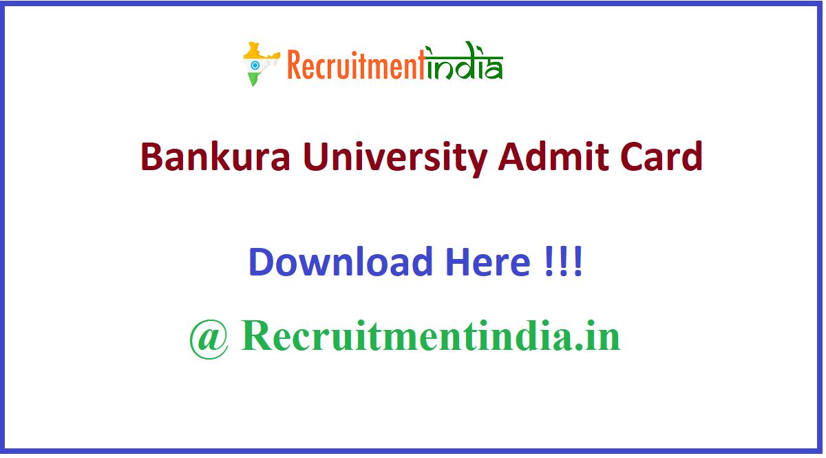 Bankura University Admit Card