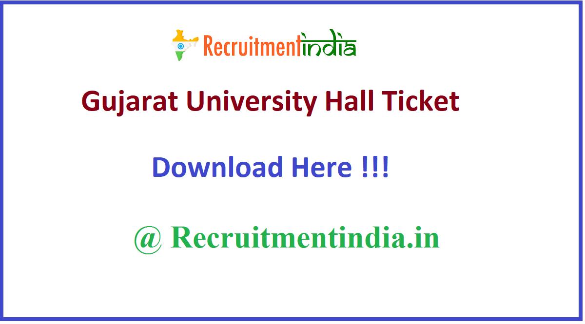 Gujarat University Hall Ticket