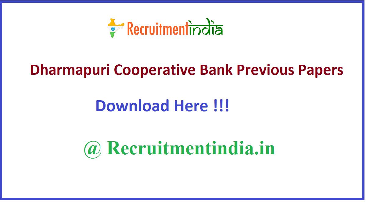Dharmapuri Cooperative BankPrevious Papers