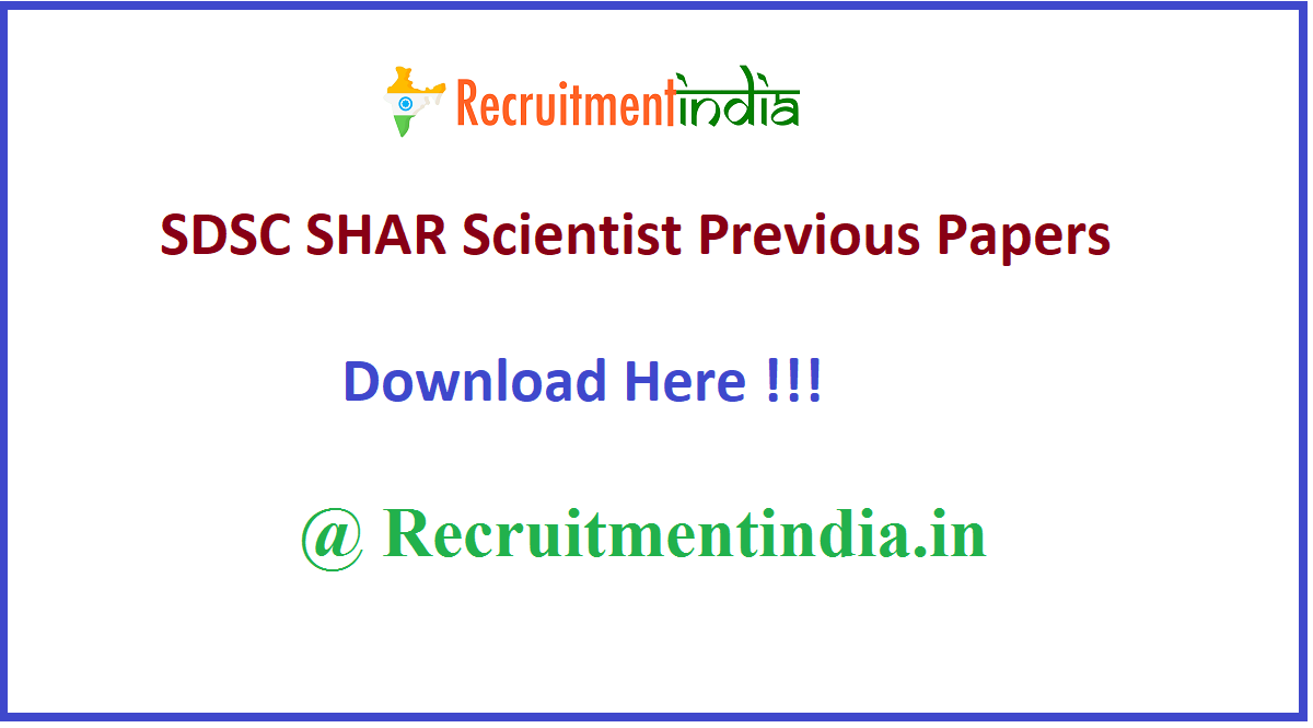 SDSC SHAR Scientist Previous Papers