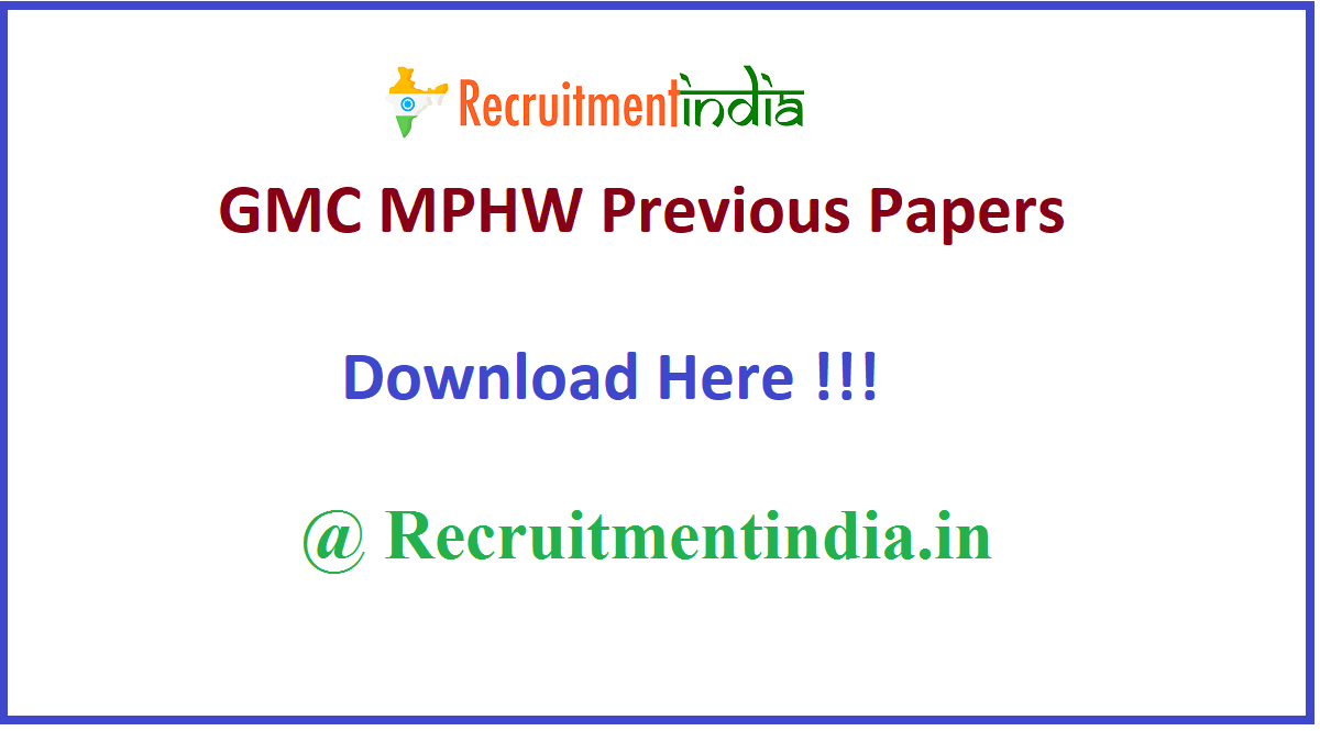 GMC MPHW Previous Papers
