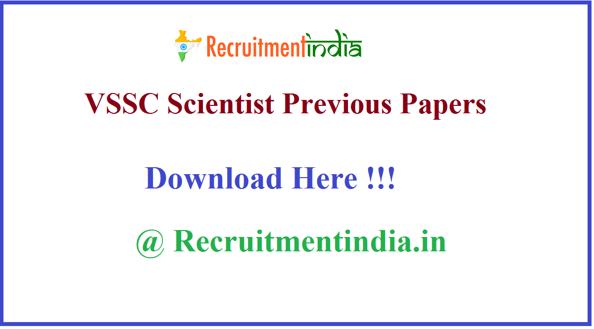 VSSC Scientist Previous Papers