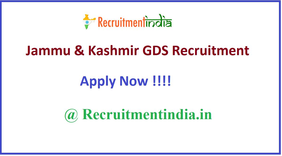 Jammu & Kashmir GDS Recruitment