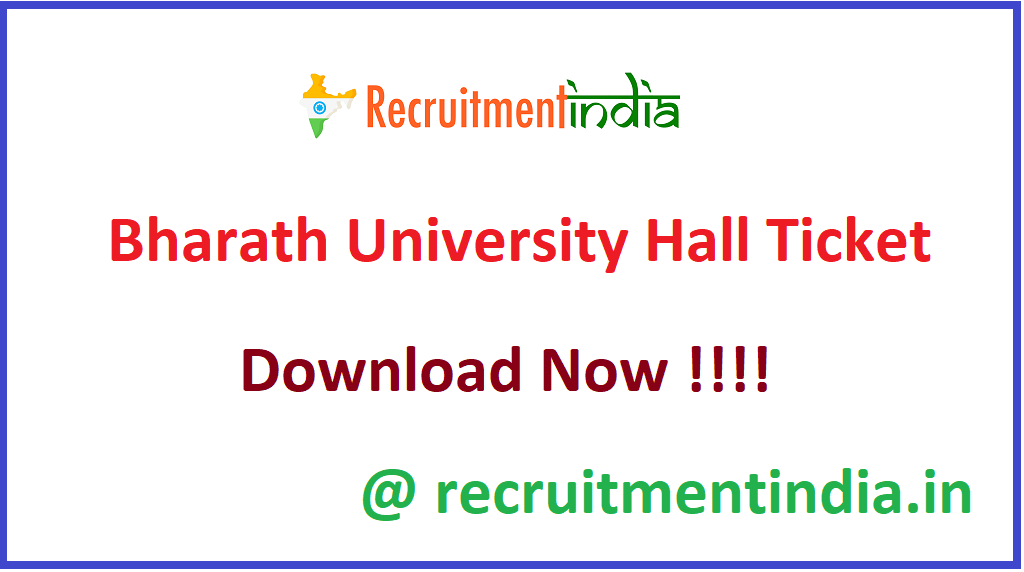 Bharath University Hall Ticket