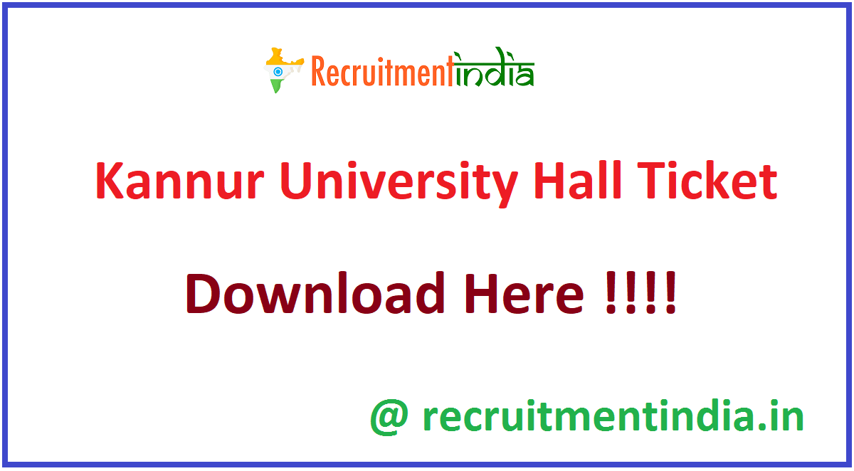 Kannur University Hall Ticket