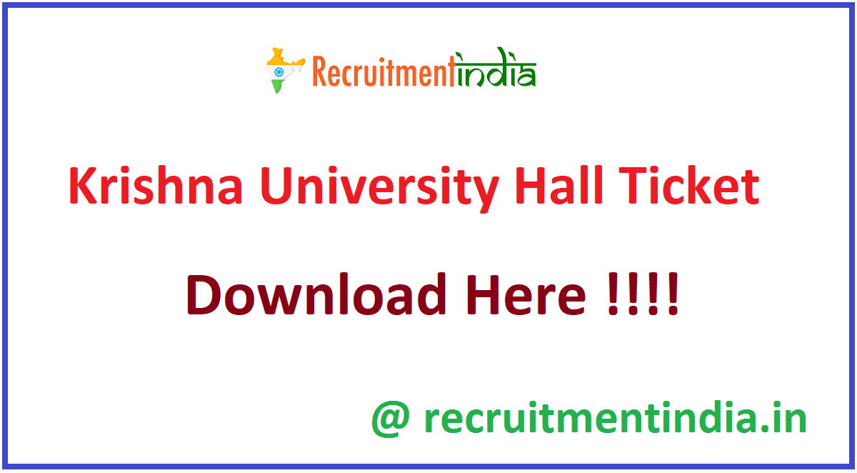 Krishna University Hall Ticket