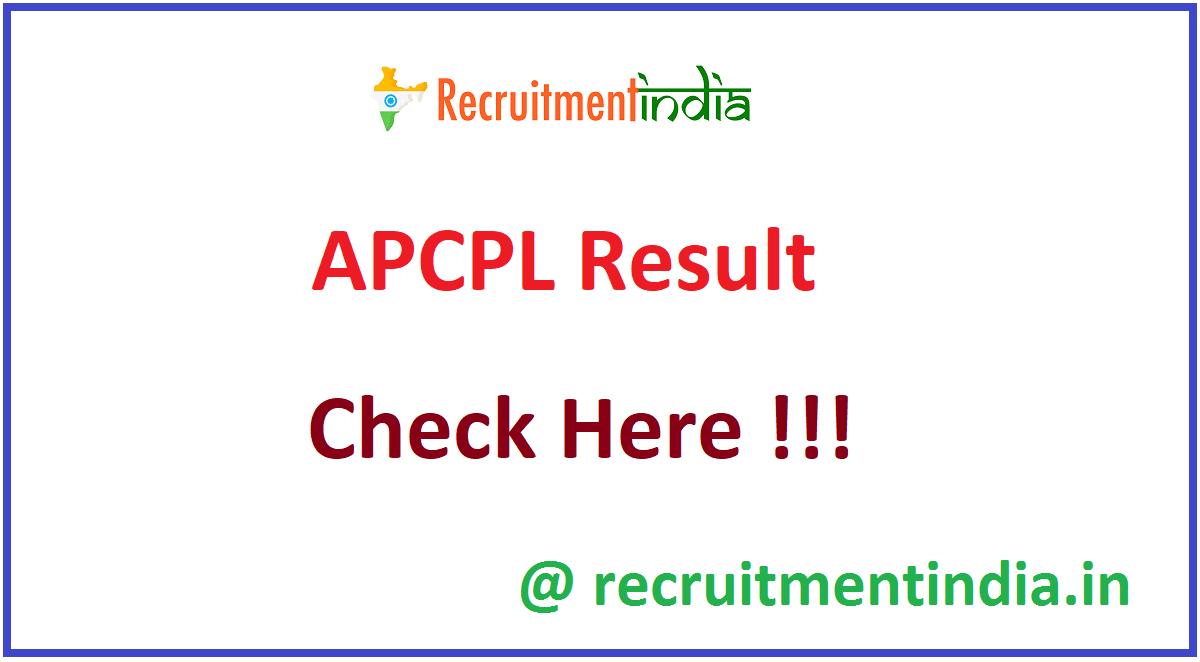 APCPL Result