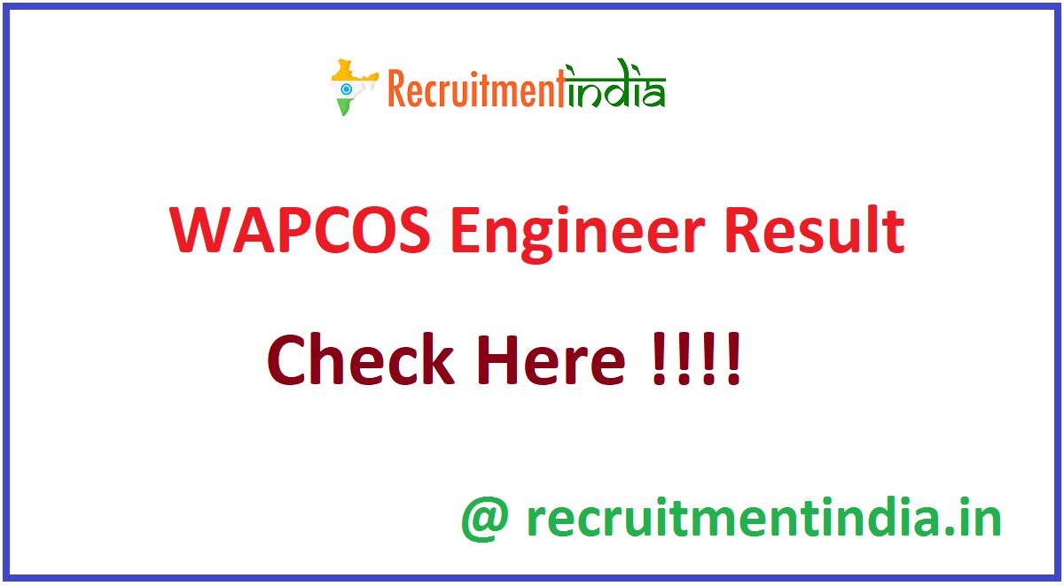 WAPCOS Engineer Result
