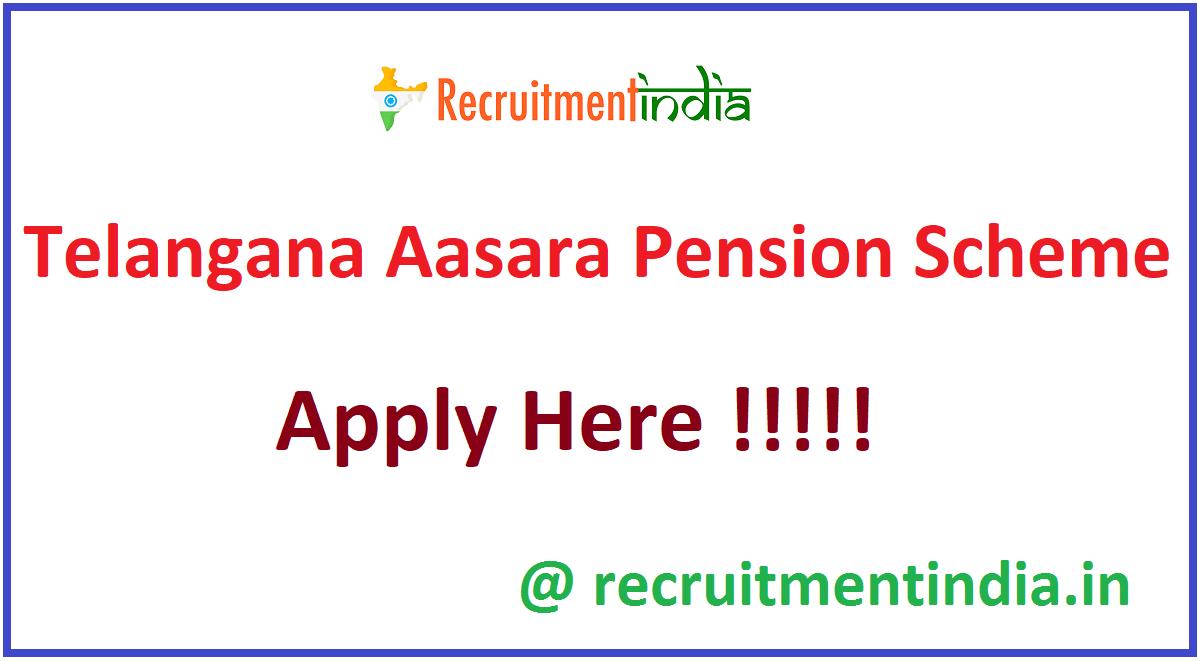 Telangana Aasara Pension Scheme