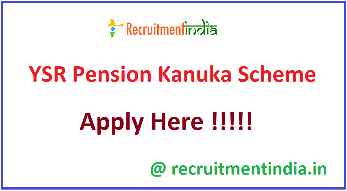 YSR Pension Kanuka Scheme
