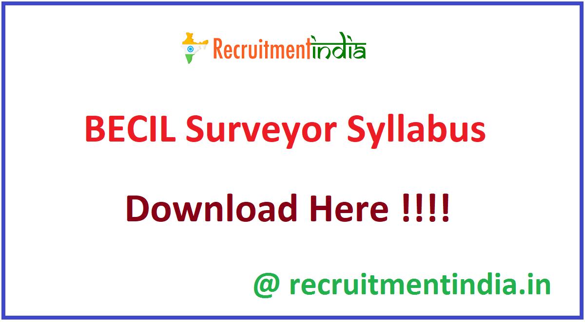BECIL Surveyor Syllabus