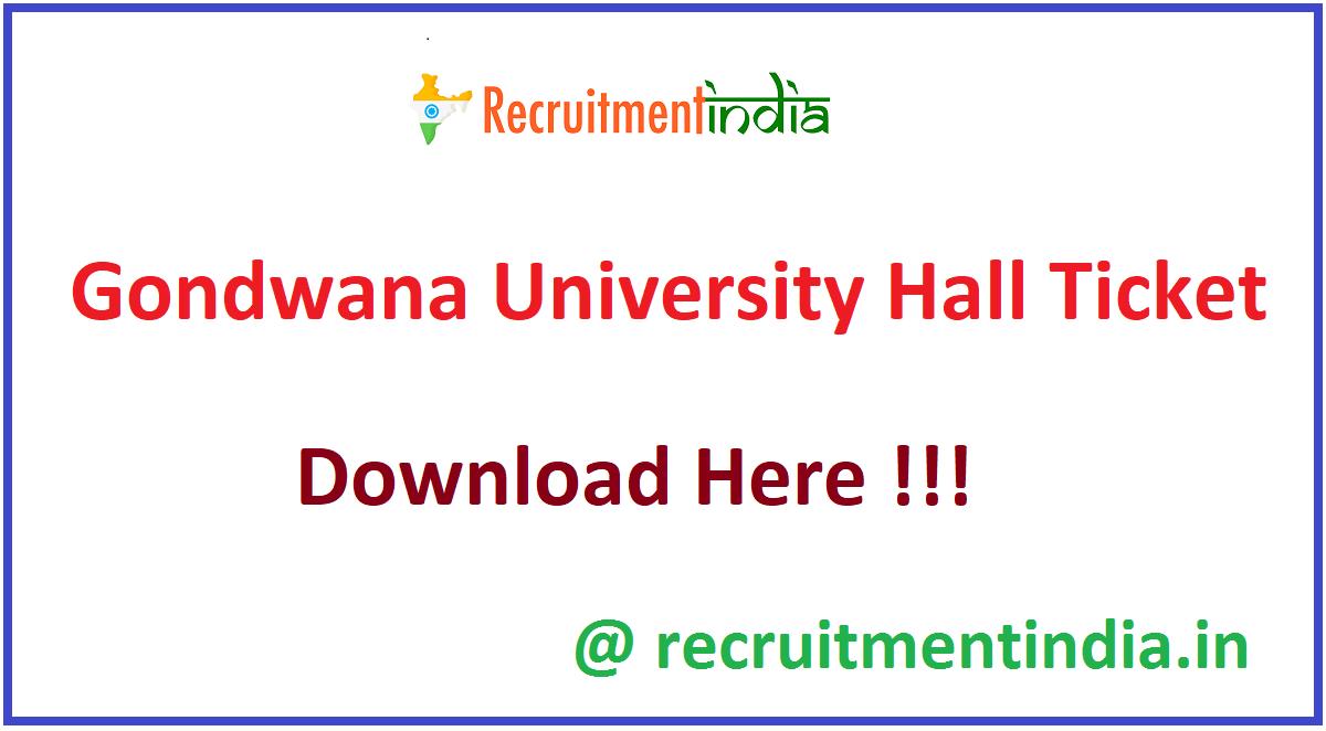Gondwana University Hall Ticket