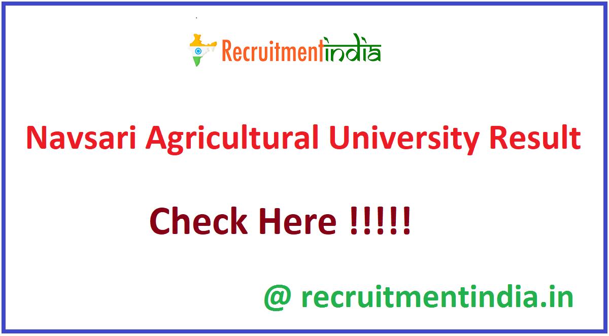 Navsari Agricultural University Result
