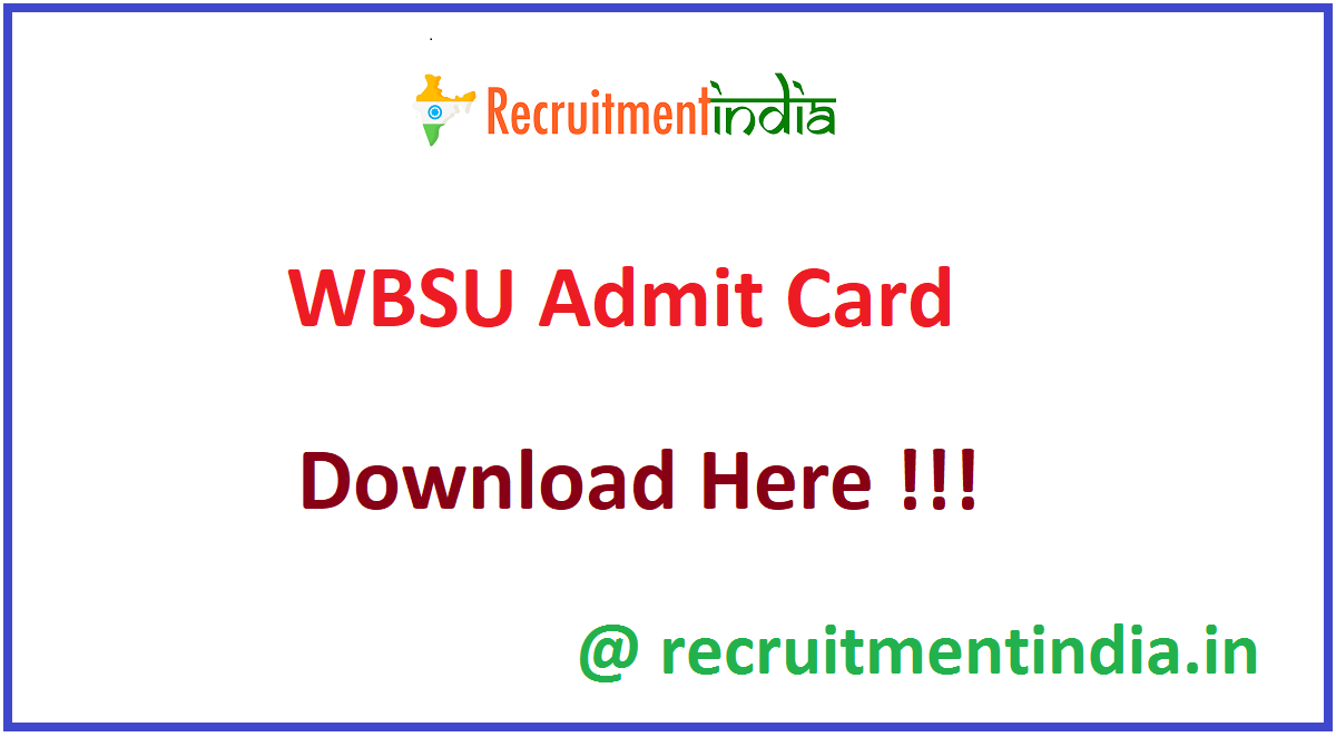 WBSU Admit Card