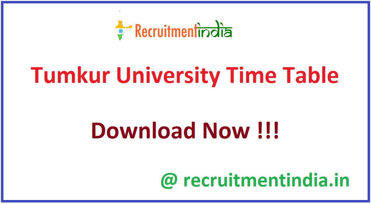 Tumkur University Time Table