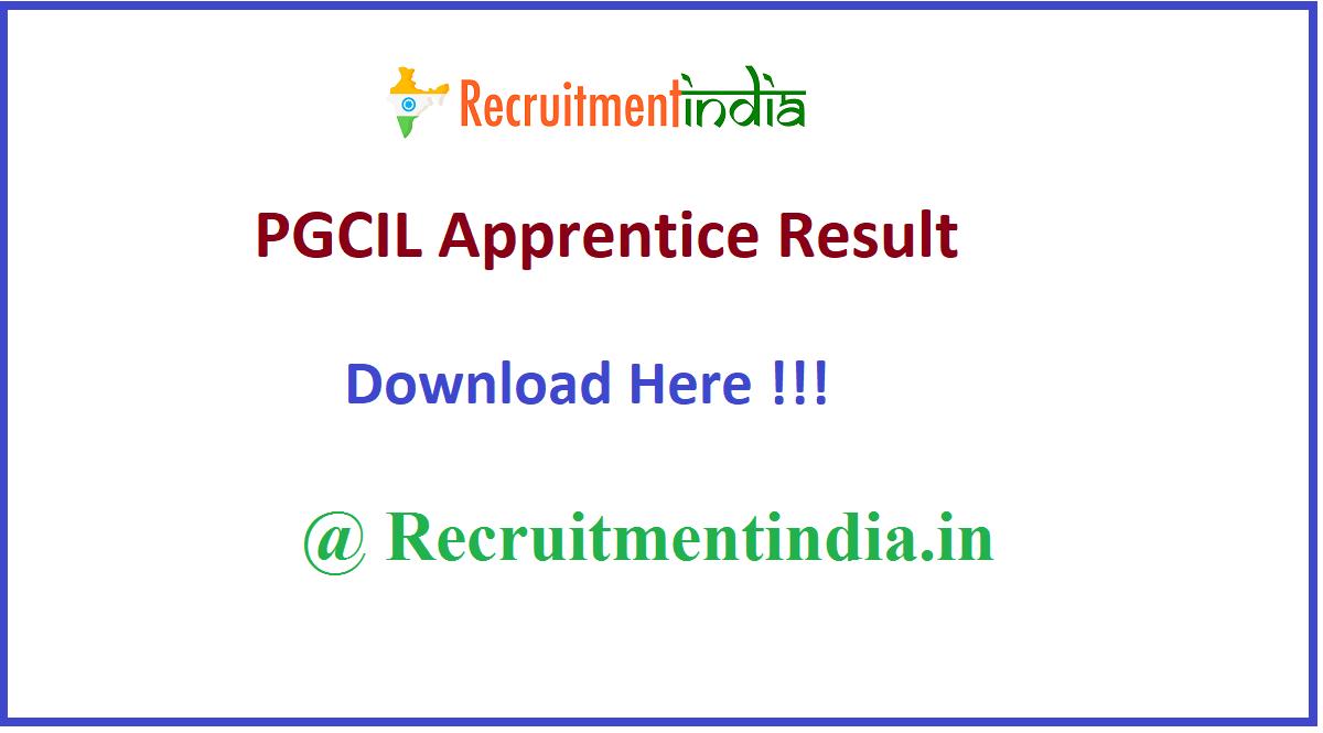 PGCIL Apprentice Result