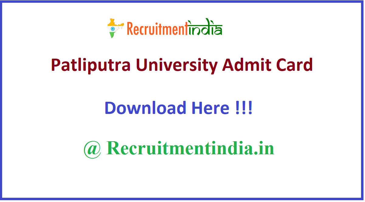Patliputra University Admit Card