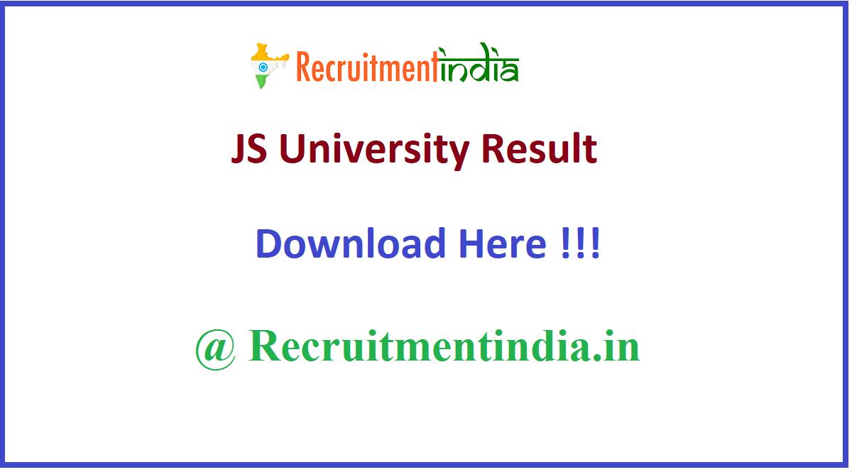 JS University Result