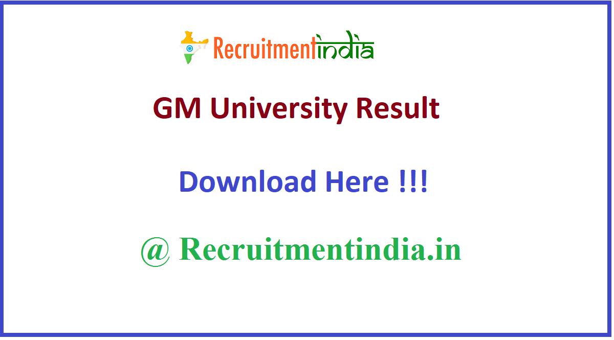 GM University Result