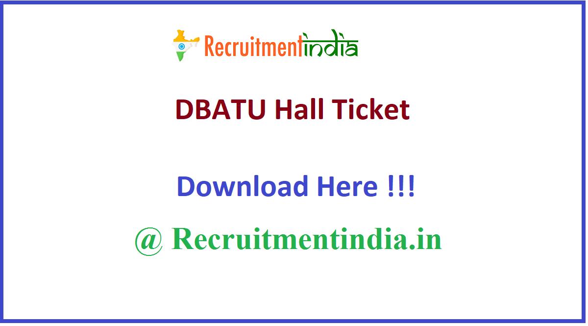 DBATU Hall Ticket