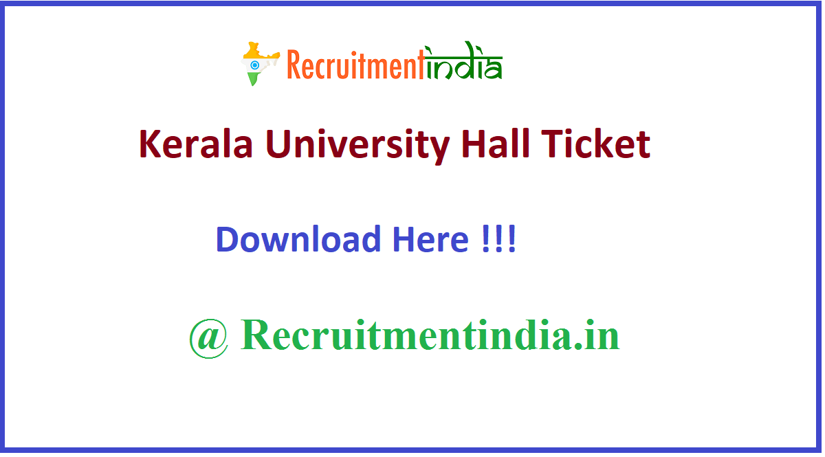 Kerala University Hall Ticket