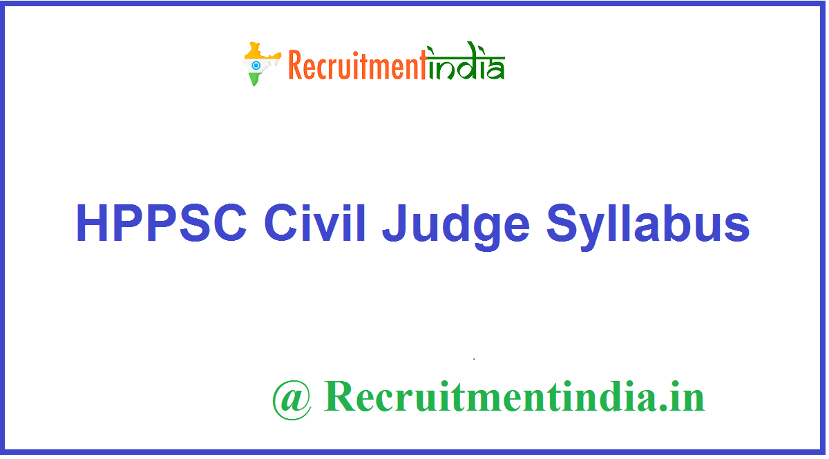HPPSC Civil Judge Syllabus