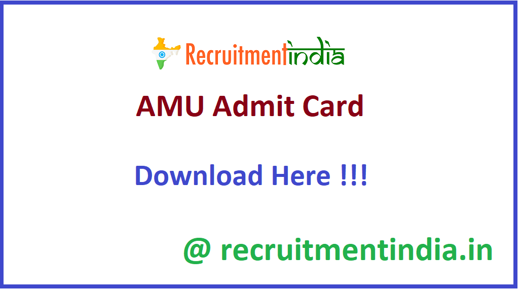 AMU Admit Card