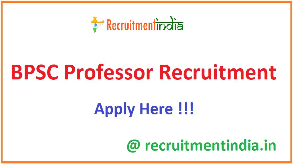 BPSC Professor Recruitment