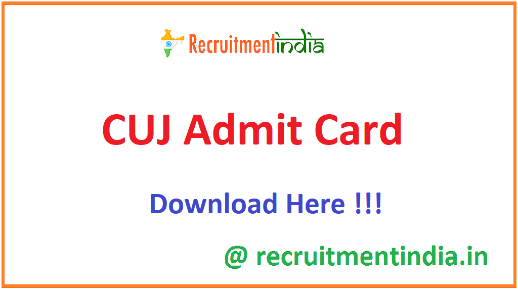CUJ Admit Card