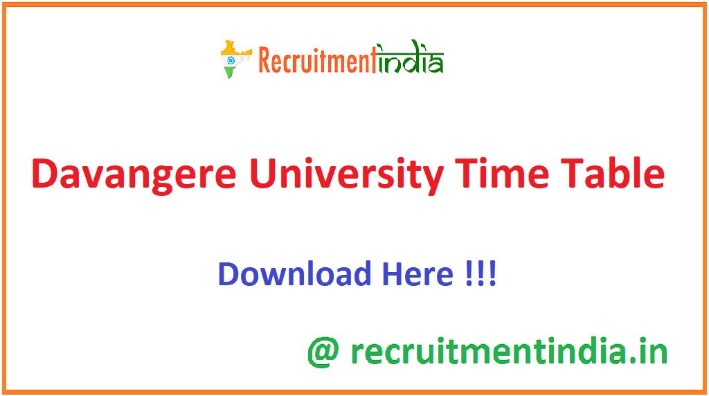 Davangere University Time Table