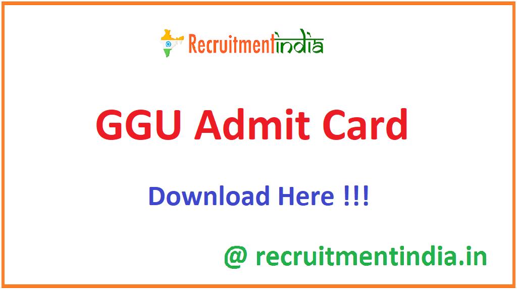 GGU Admit Card
