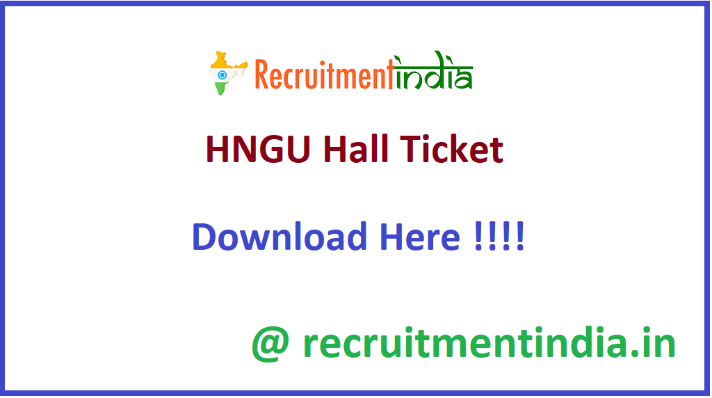 HNGU Hall Ticket