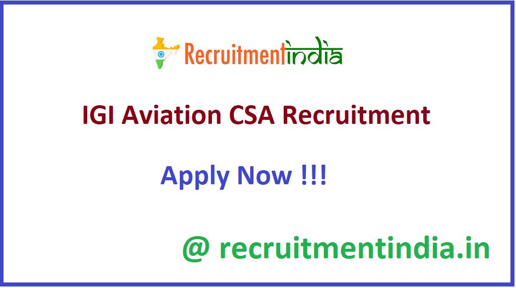 IGI Aviation CSA Recruitment