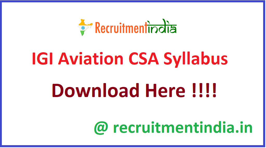 IGI Aviation CSA Syllabus