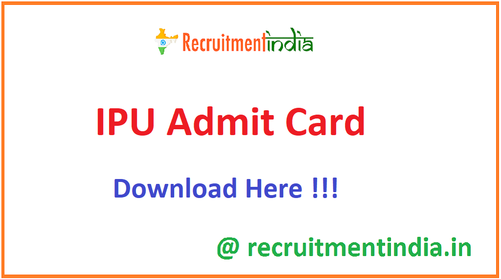 IPU Admit Card