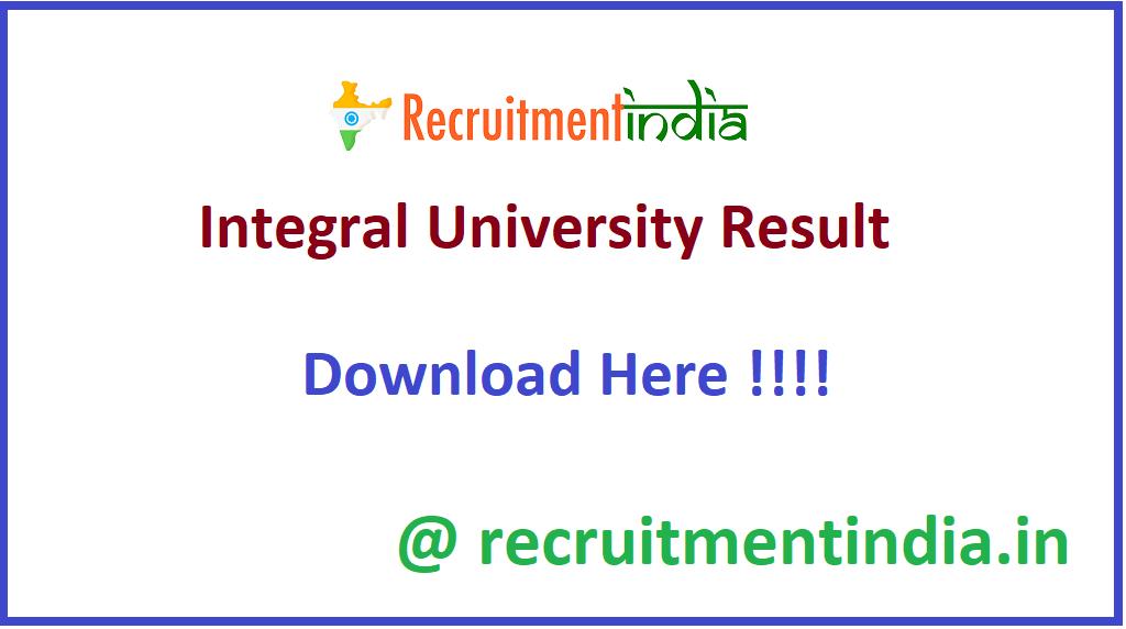 Integral University Result