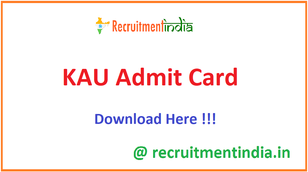 KAU Admit Card