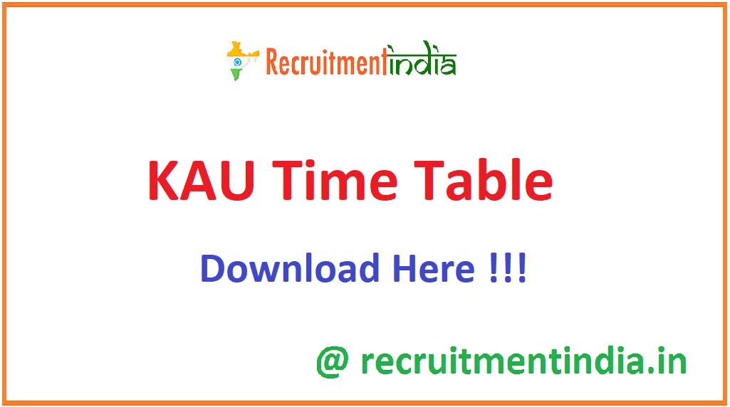 KAU Time Table