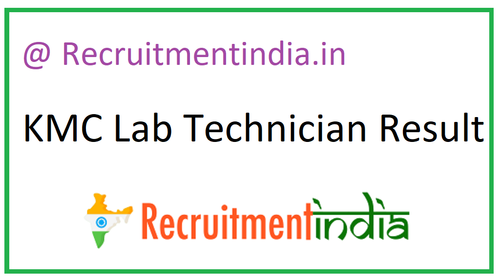 KMC Lab Technician Result