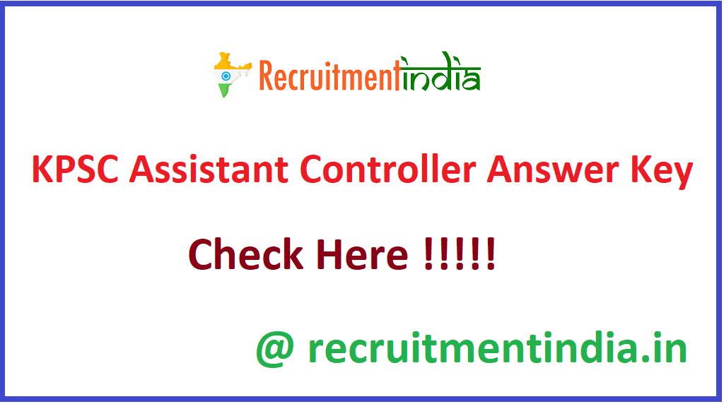 KPSC Assistant Controller Answer Key
