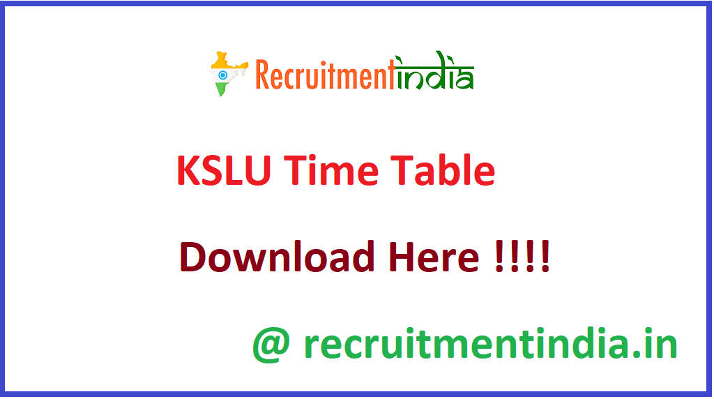 KSLU Time Table